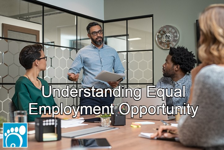 Manager going over equal employment opportunity guidelines