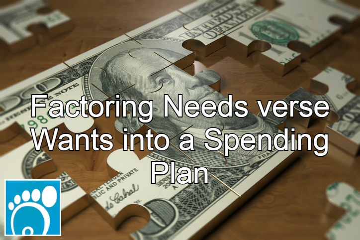 needs verse wants in a spending plan